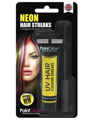 Hair Mascara UV Reactive Special Effects - Neon Yellow