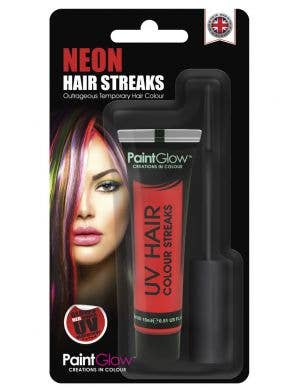 Hair Mascara UV Reactive Special Effects - Neon Red