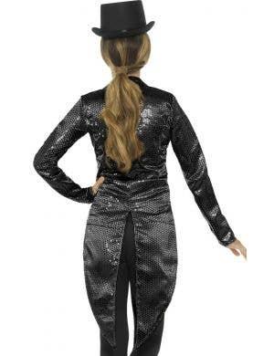 Showgirl Women's Black Sequin Tailcoat Costume Jacket