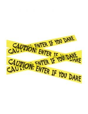 Caution Enter If You Dare Halloween Tape Decoration