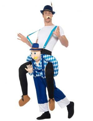 Hilarious Piggyback Men's Oktoberfest Bavarian Costume