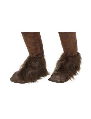 Krampus Men's Christmas Demon Boot Covers Costume Accessory