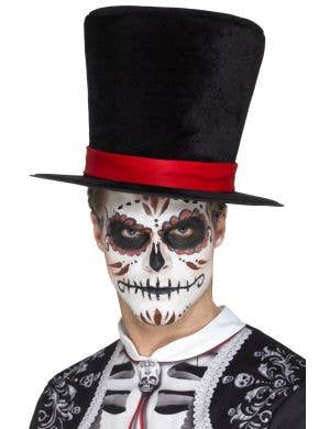 Tall Day of the Dead Adults Black Top Hat