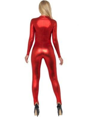 Miss Whiplash Red Catsuit Women's Halloween Costume
