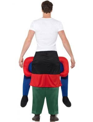 Novelty Piggyback Gnome Men's Fancy Dress Costume