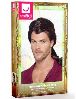 Marauder Pirate Men's Brown Costume Wig