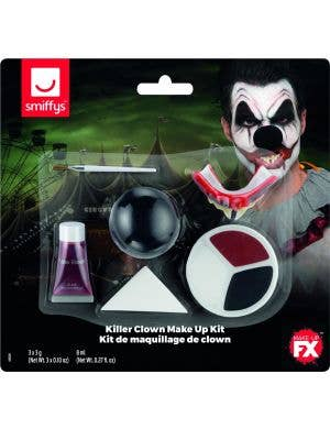 Killer Clown Halloween Men's Makeup Kit
