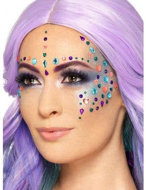 Mermaid Jewel Face Gems Costume Accessory