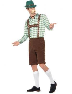 Alpine Men's Bavarian Green Chequered Oktoberfest Costume