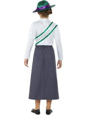 Victorian Suffragette Girl's Fancy Dress Costume