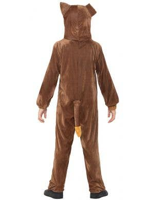 Cute Brown Dog Kids Animal Onesie Costume