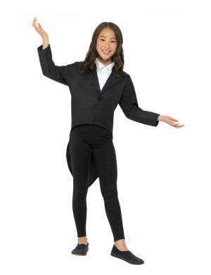 Fancy Black Tailcoat Kids Costume Jacket
