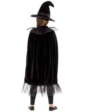 Sparkly Witch Cape and Hat Costume Accessory Set