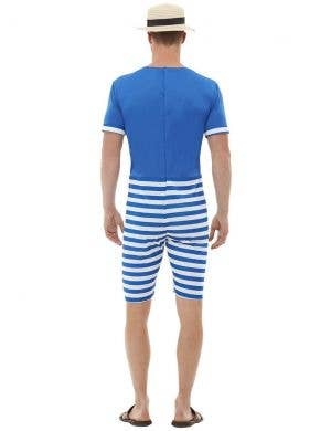 1920's Blue Bathing Suit Men's Fancy Dress Costume