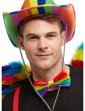 Rainbow Striped Bow Tie Costume Accessory