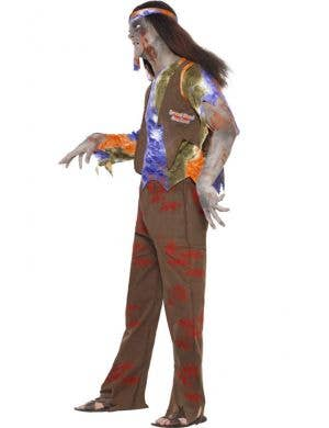 70's Bloodstained Hippie Men's Zombie Costume