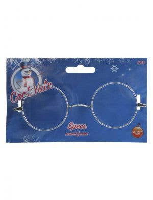 Novelty Wire Framed Silver Santa Claus Glasses