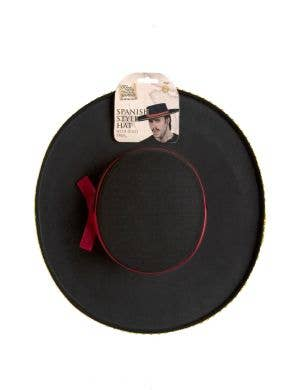 Spanish Adult's Black Poblano Costume Hat Accessory