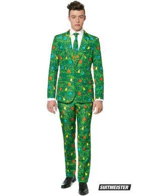Suitmeister Men's Green Christmas Tree Suit Costume