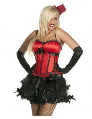 Bow Corset in Red and Black