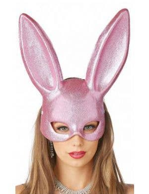 Bunny Pink Glitter Adult's Masquerade Mask