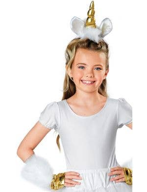 Gold Unicorn Horn and Wristlets Costume Kit