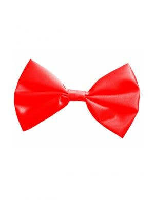 Bright Red Satin Bow Tie Costume Accessory