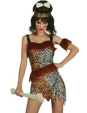 Leopard Print Women's Prehistoric Cavewoman Costume