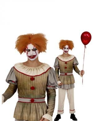 Sideshow Sid Men's Halloween Clown Costume