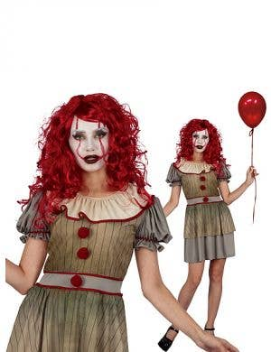 Sideshow Sam Women's Halloween Clown Costume