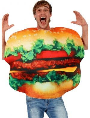 Burger Man Adult's Novelty Fancy Dress Costume