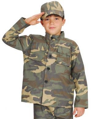 Army Soldier Boy's Budget Camouflage Uniform Costume