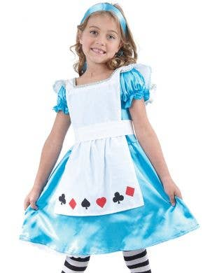 Tea Party Alice in Wonderland Girls Fancy Dress Costume
