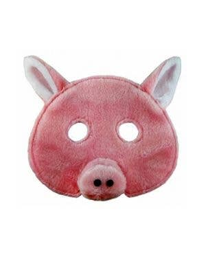 Plush Pink Pig Animal Mask Costume Accessory