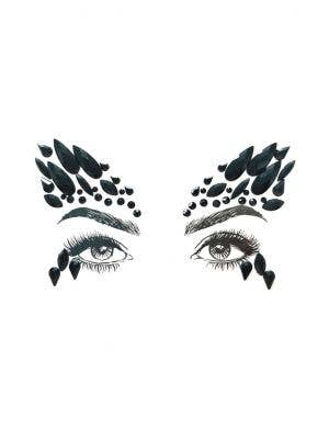 Black Swan Diamond Daze Stick On Face Jewels