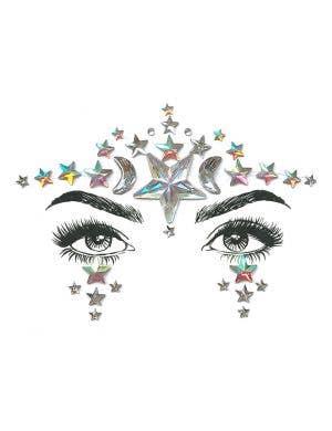 Celestial Diamond Daze Festival Stick On Face Jewels