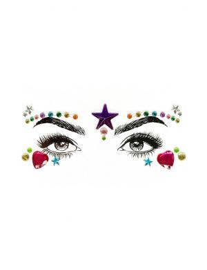 Pride Star Diamond Daze Stick On Face Jewels
