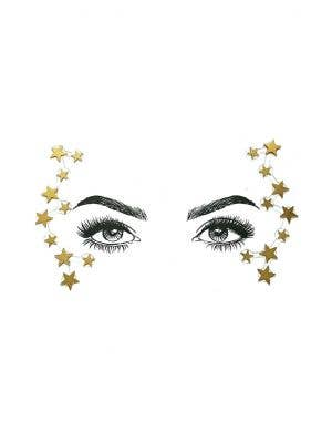 Wonder Woman Gold Star Diamond Daze Stick On Face Jewels