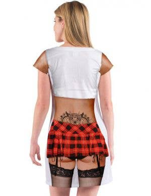 Faux Real Catholic School Girl Women's Costume Dress