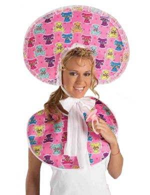 Baby Girl Adults Novelty Bib and Bonnet Costume Kit