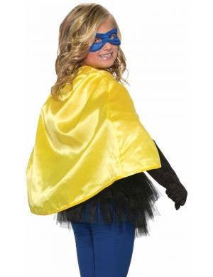Superhero Kid's Yellow Cape Costume Accessory