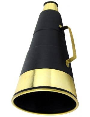 Deluxe Megaphone Black and Gold Costume Accessory