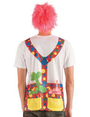 Faux Real Clown with Big Tie Costume Top