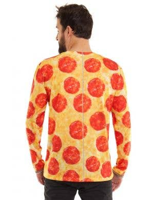 Faux Real Pizza Print Tuxedo Costume Top