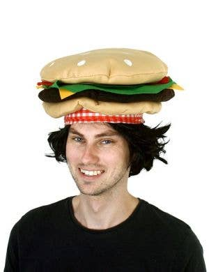 Novelty Hamburger Costume Hat