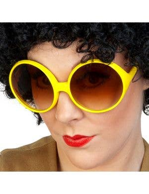 1970's Retro Yellow Costume Glasses