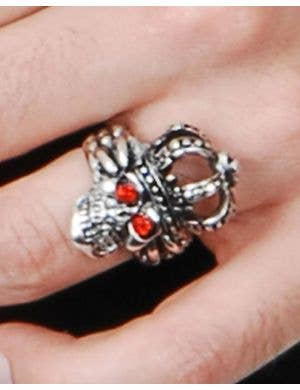 Jeweled Skull Halloween Costume Ring