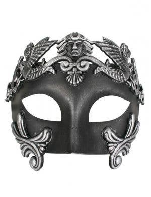 Centurion Men's Black Masquerade Mask