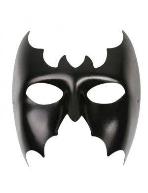 Wet Look Men's Batman Masquerade Mask