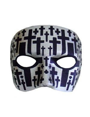 Carnivale Men's Silver and Black Crosses Mask